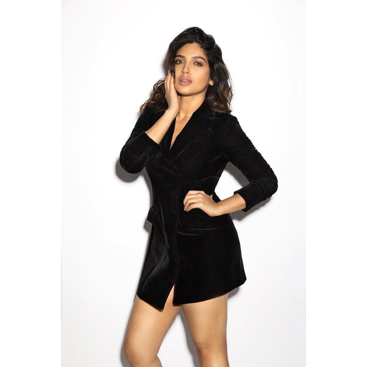 Bhumi Pednekar in a Black dress by Muskaan Goswami  #bollywoodcelebs #bollywoodclothes #indianfashion #inspiration #bhumipednekar