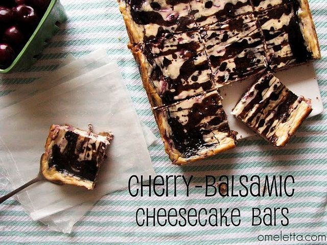 Cherry-Balsamic Cheesecake Bars by omelettablog, via Flickr | Desserts ...