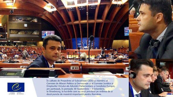 In calitate de Presedinte al Subcomisiei CEDO simembru al Comisiei de Afaceri Politice si Democratie si al Comisiei Juridice si Drepturilor Omului ale Adunării Parlamentare a Consiliului Europei, am participat, in perioada 30 Septembrie – 3 Octombrie, la Strasbourg, la lucrarile care au avut prevazut pe ordinea de zi doua puncte de maxima importanta pentru Romania: 1.votarea judecatorului roman la CEDO si 2.sprijinul acordat de tara noastra Republicii Moldova, aflata in demersurile…