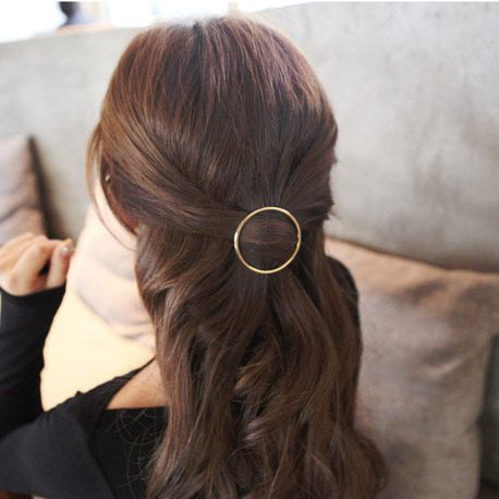 Gold Circle Hair Clip. Triangle Hairpin. Boho by LemonadeDiamond