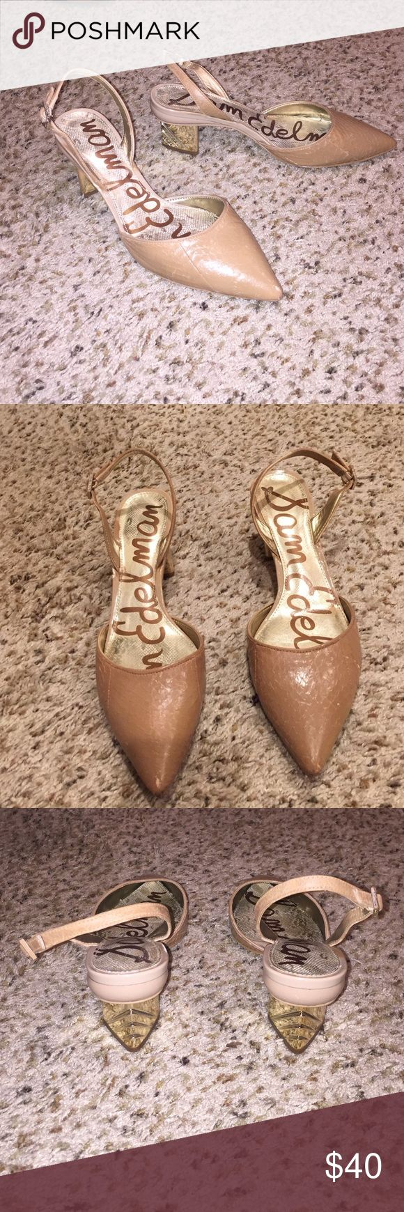 SAM EDELMAN HEELS! MAKE ANY OFFER Adorable SAM EDELMAN HEELS WITH SUCH A CUTE CHUNK HEEL! these are my absolute favorite shoes they are just too small! Sam Edelman Shoes Heels