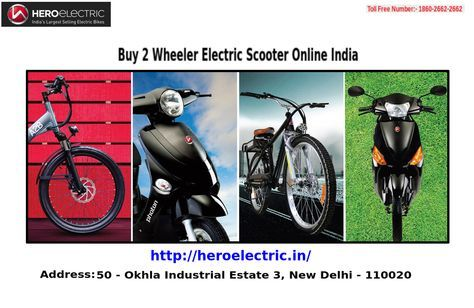 Hero electronic is leading to produce 2 Wheeler Scooter, they are providing the best 2 Wheeler Electric Scooter Online in India which gives you fuel free scooter to move anywhere at very affordable price. For viewing their entire range or to get more information about the same, you can visit http://heroelectric.in/