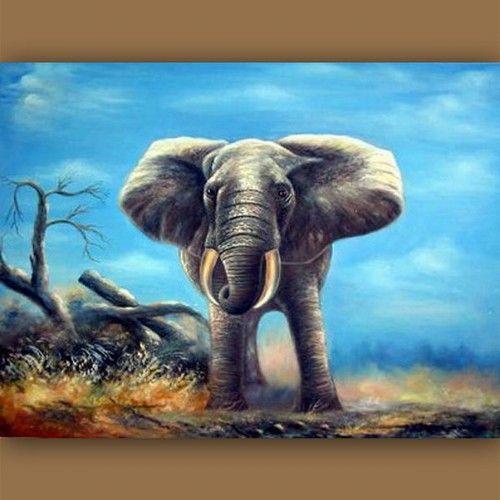 17 beste idee n over olifant schilderijen op pinterest for Schilderij olifant
