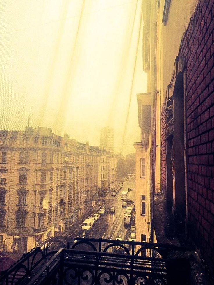 Katowice, widok z okien na ulicę Słowackiego