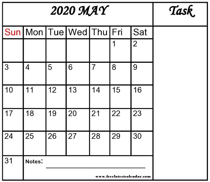 Blank May 2020 Calendar Template In Google For Education