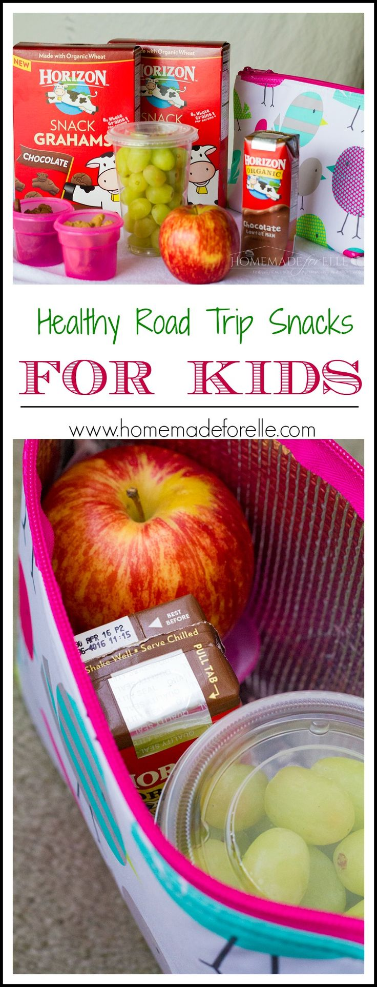 Healthy Road Trip Snacks for Kids | homemadeforelle.com