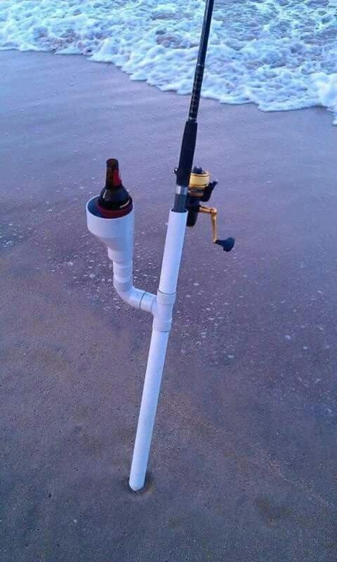 Best 25 fishing pole holder ideas on pinterest pvc rod for How to make fishing rod