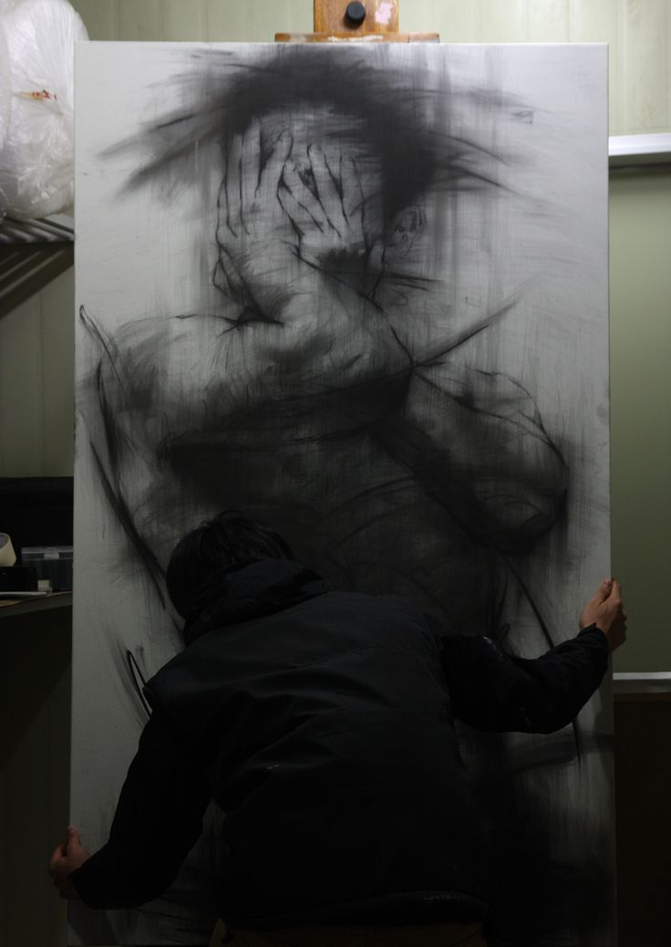 Art ~ charcoal  on canvas