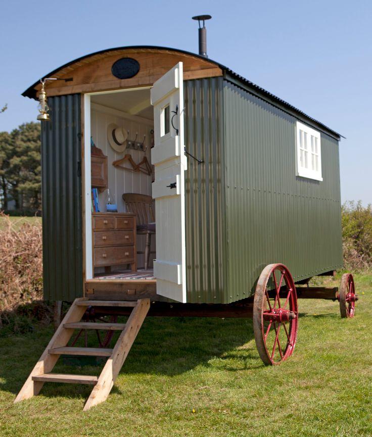 Luxury shepherds hut camping pinterest shepherds hut luxury and sewing - The mobile shepherds wagon ...