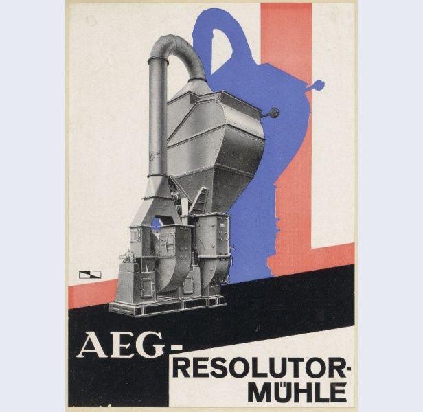César Domela [1900-1992] Reclameblad AEG-Resolutormühle