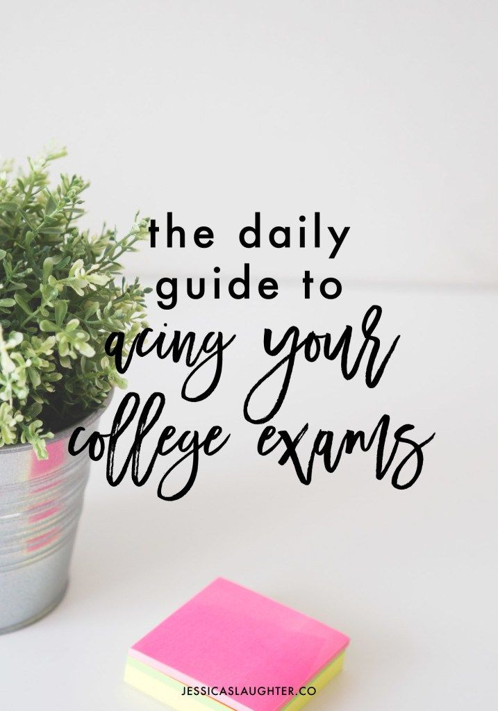 The best way to do well on an exam is to start studying early, and these daily habits will help you get those A's you want!