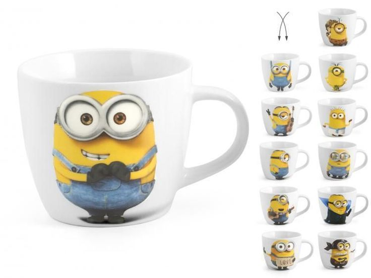 Home Set Of 6 Porcelain Tea Cups Minions Without Cc220 Dishes Breakfast