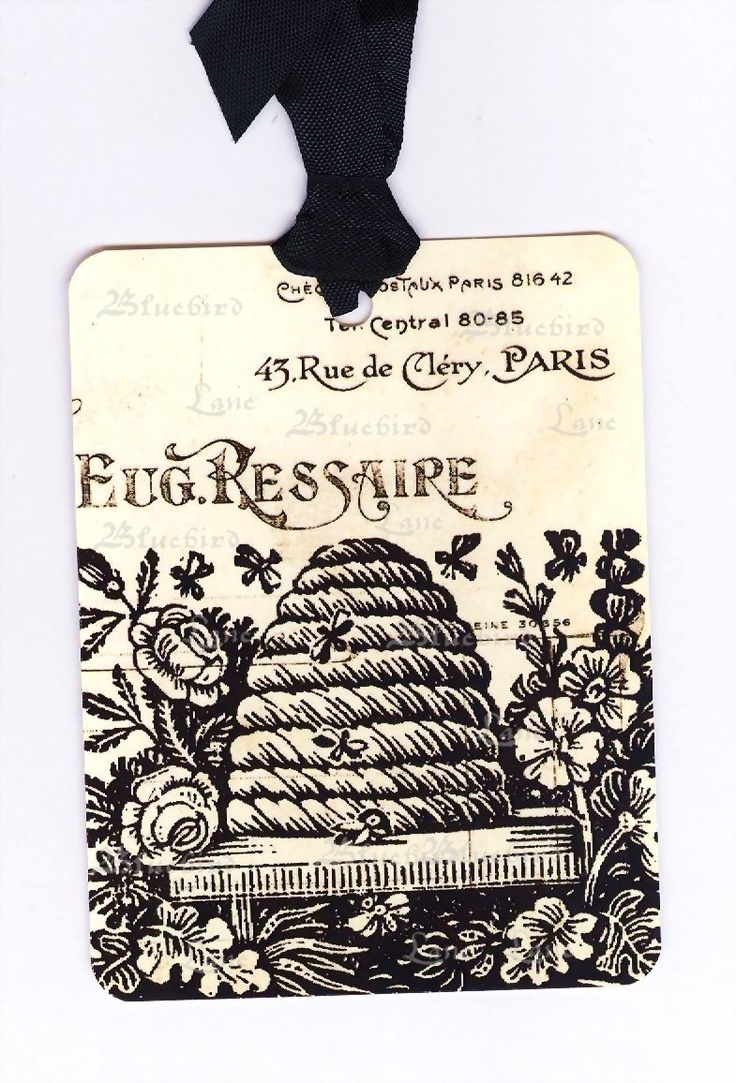 Bee Skep Tags Vintage French Style 500 Via Etsy