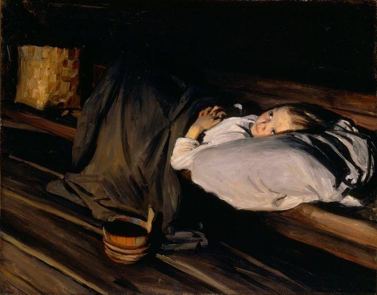 Albert Gebhard (1869-1937) Orpo / Abandoned ; Orphan 1895 - Finland - Really like this!