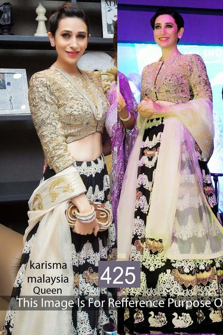 Karisma Kapoor Black Moss Latest Designer Bollywood Lehenga