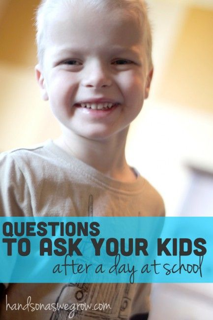 """Tips and questions to ask your kids after a day at school to get an answer more than """"I dunno""""."""