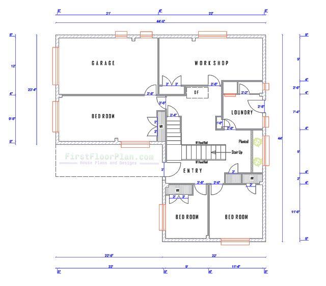 Ground Floor Plan Village House Design Floor Plans Ground Floor Plan Village house floor plan
