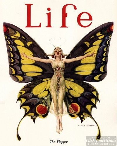 The Flapper, LIFE cover 1922 // F. X. Leyendecker