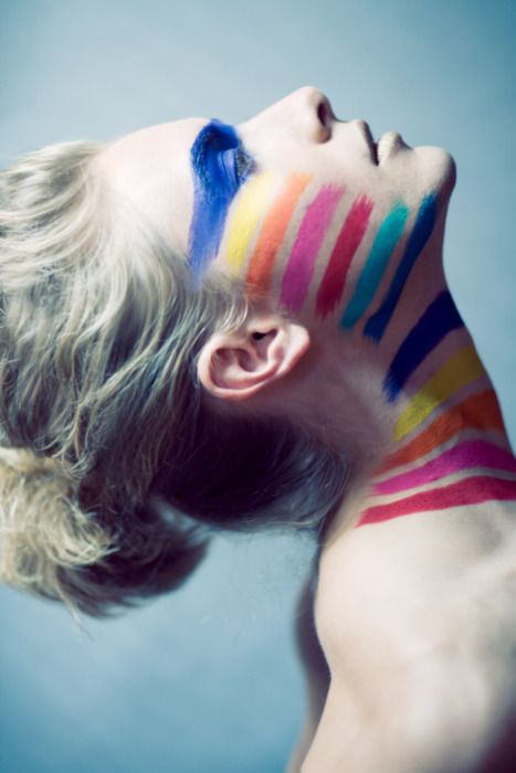paint: Colors Pallets, Tribal Fashion, Costumes Parties, Colors Streaks, Tribal Makeup, Fashion Women, Photo Shoots, Skin Colors, War Paintings