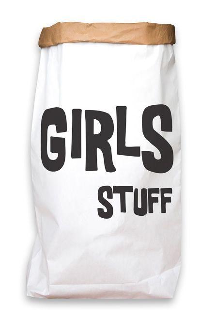 CarlijnQ Paperbag XXL Girls Stuff opbergzak