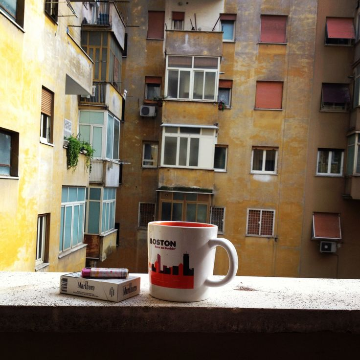 Enjoying my daily morning #coffee and #cig on my balcony...this is the view I see. Located in the heart of #trastevere.
