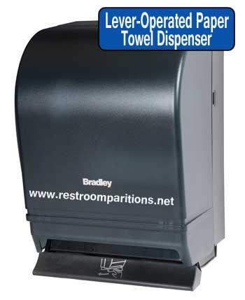 lever operated paper towel dispenser - Bradley Bathroom Accessories