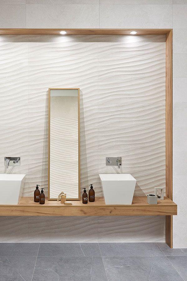 Keraben Mixit Wellendekore Im Bad Fliesen Badezimmerideen Badezimmer