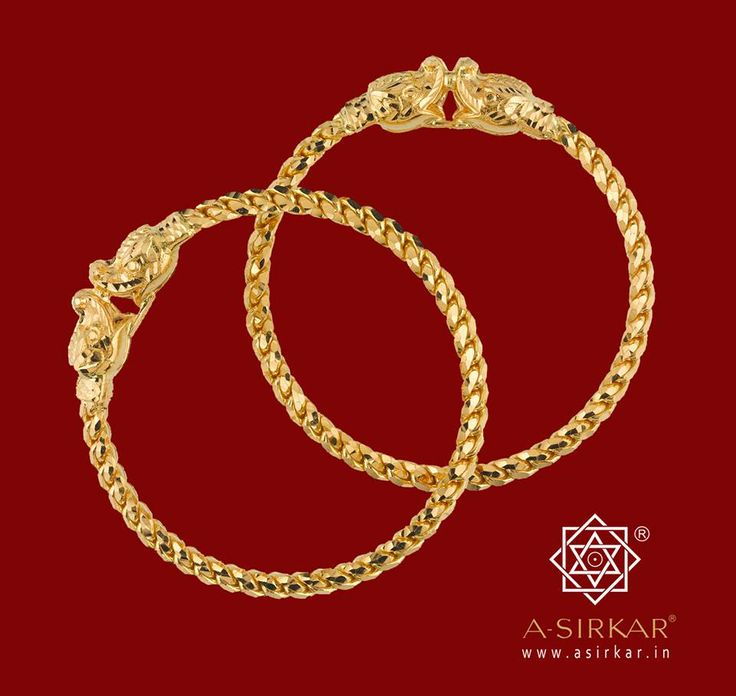 AmritoPak Bala : Three solid gold wires braided (pak) into a bangle. Simple, yet probably one of the most difficult tasks in Indian jewel-craft. A slight error could result in a knot causing the whole process to be started from scratch. Thus the name, derived from the ocean-churning episode in the Puranas, that led to the creation of the nectar of immortality ---- Amrito.  A genuine heirloom, this ethereal guinea gold bala ensures you live on and on forever.
