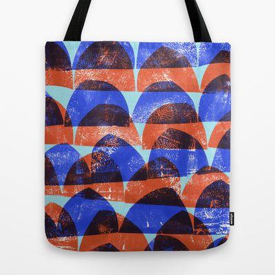 Press print semi-circle pattern tote bag - Sarah Bagshaw