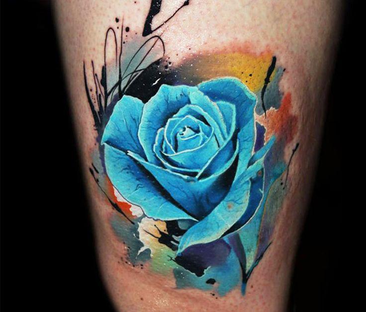 Blue Rose Tattoo by Lehel Nyeste