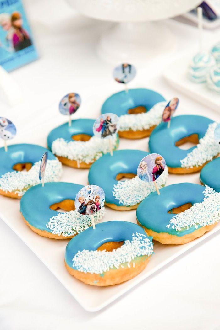 Adorable FROZEN themed birthday party via Kara's Party Ideas KarasPartyIdeas.com Printables, cake, cupcakes, invitation for twins, games and...
