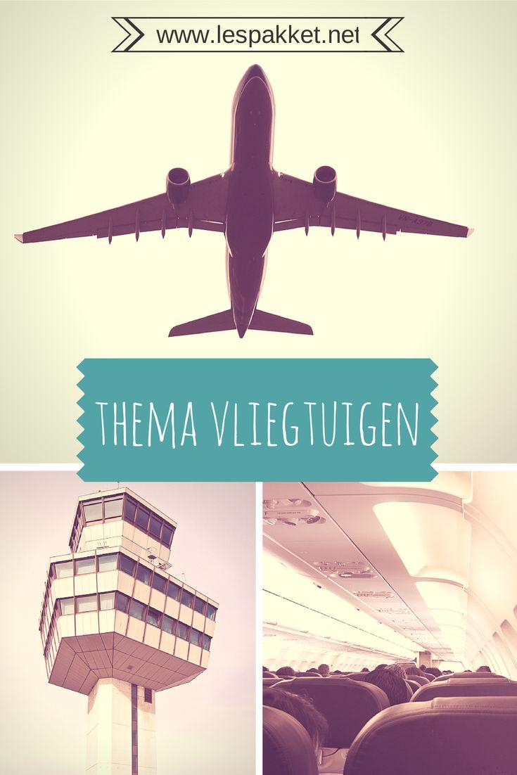 Wie is er wel eens met het vliegtuig op vakantie geweest? Hoe kun je nog meer op vakantie? Hoe heet de bestuurder van een vliegtuig? Hoe komt het dat een vliegtuig kan vliegen? Veel plezier met het thema vliegtuigen! - Lespakket