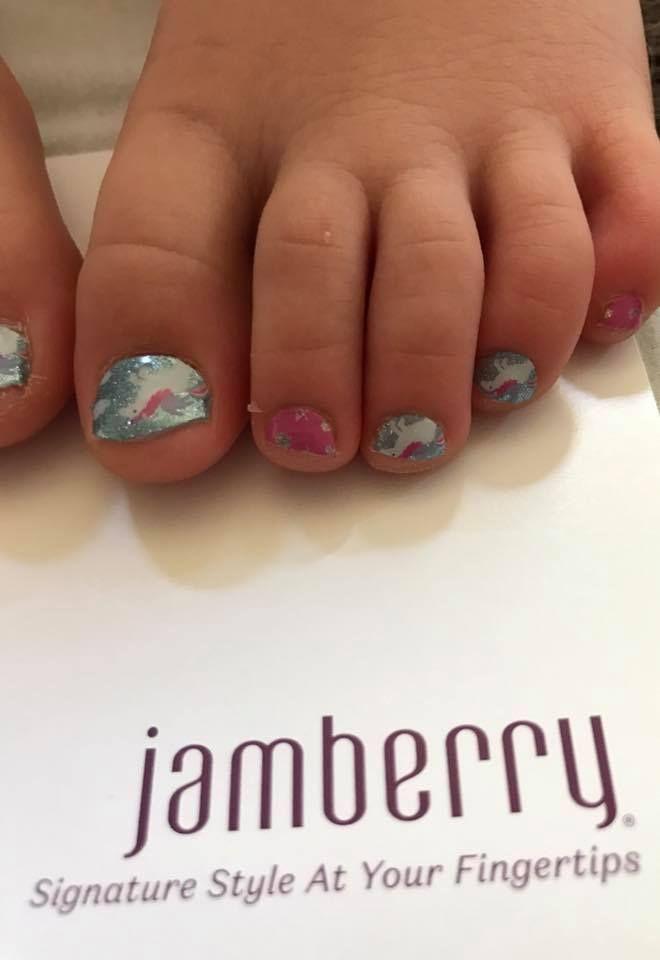 "Junior wraps!! ""Unicorn Dreams""available at nickystone.jamberry.com #jamberry #nails #beauty #manicure #unircorndreamsjn"