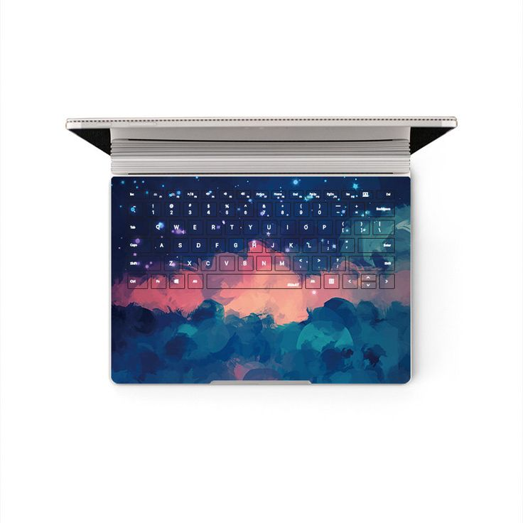 Microsoft Surface Book Decal Red Cloud Keyboard sticker Bottom Skin Protector (Please choose the version) by MixedDecal on Etsy