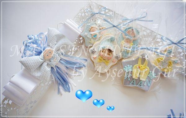 Tepsisiyle uyumlu butik bebek kurabiyeleri.Her özel gününüze uygun tasarım ürünler...