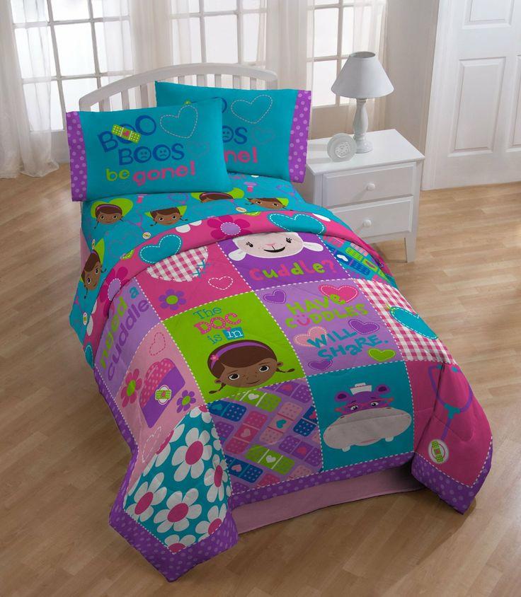 doc mcstuffins bedding set comforter sheet set flat sheet fitted sheet pillowcase