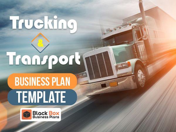 Trucking Transport Business Plan Template Business Plan Template Business Planning Business Transportation