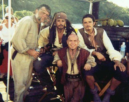 Kevin McNally, Johnny Depp, Martin Klebba, Orlando Bloom