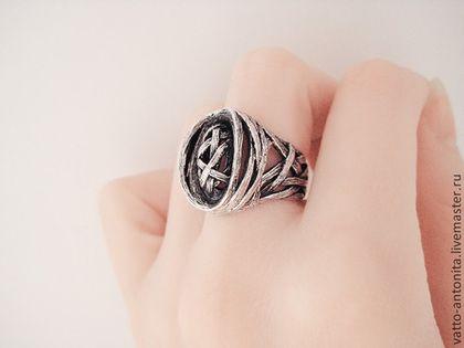 """Кольца ручной работы. Ярмарка Мастеров - ручная работа. Купить кольцо из серебра """"Гнездо птицы Сирин"""". Handmade. Птица Сирин"""