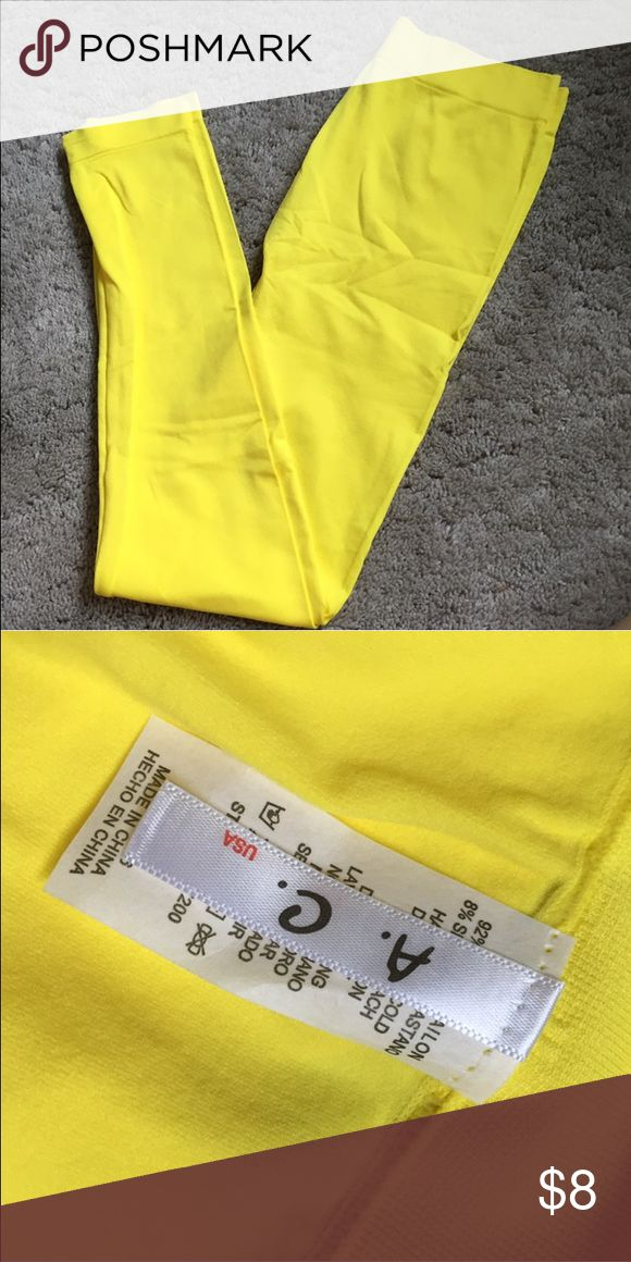 Bright Yellow Leggings one size, perfect for a consume or workout Pants