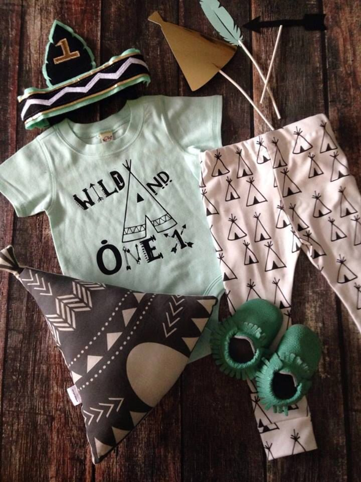Hipster Birthday Bodysuit First Teepee Pow Wow Wild One And Shirt