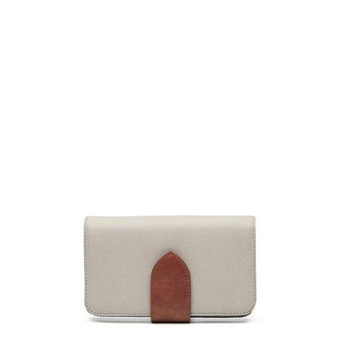 Sidewalk Wallet - Grey/Tan – Harlequin Belle