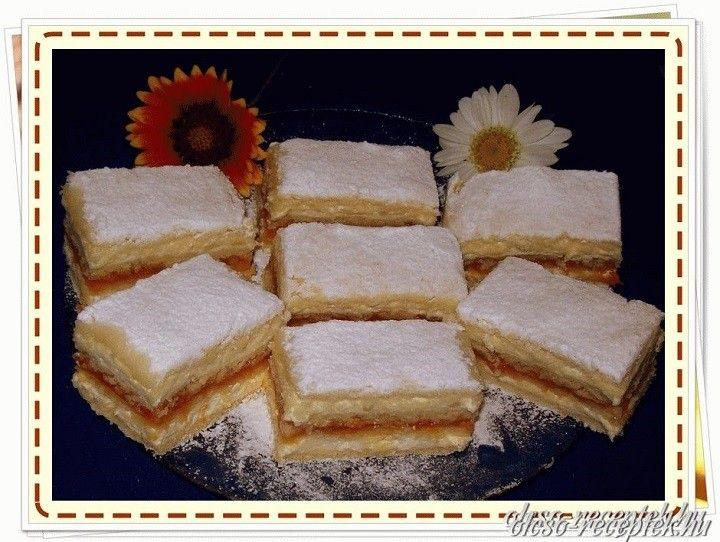 Hozzávalók:  Lapokhoz:  50 dkg liszt 20 dkg Rama margarin 3 db tojássárgája 1 cs sütőpor 10 dkg porcikor 1/2 citrom reszelt héja és leve szükség...