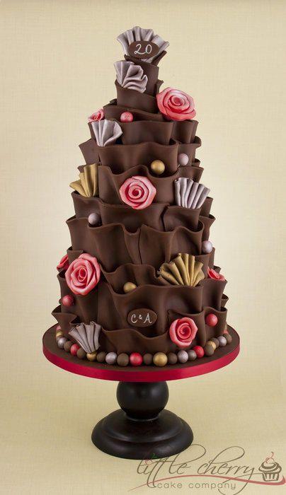 ~Chocolate Wrap Cake ~ The Little Cherry Cake Company