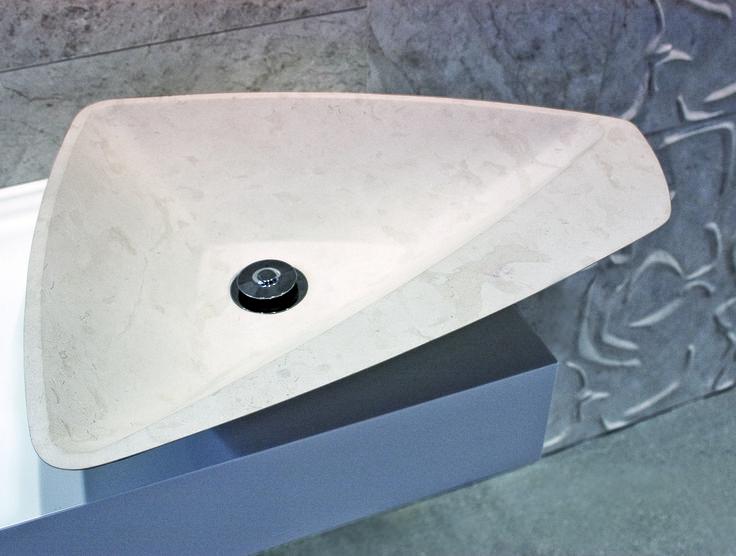 Hand Carved stone basin Custom made Urban Edge Ceramics
