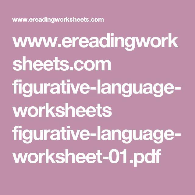 Figurative, Figurative language and Language on Pinterest
