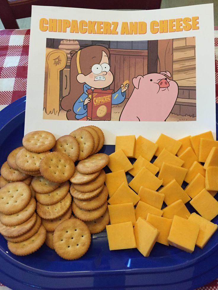 Gravity Falls birthday party food. Chipackerz