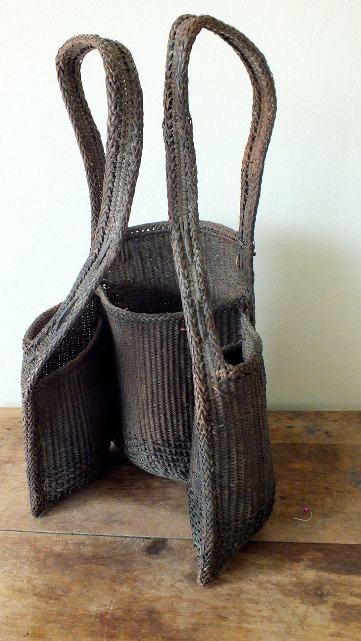 р-LANET-э-Арт: Vintage Этническая плетеная / мешок соломы Рюкзак, Таиланд