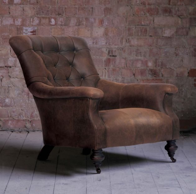"""Slipper Chair in Leather.jpg (630×621) """"It was an enormous room, done up in an old-ladyish, 1980s peach. Directly off the entrance was a seating area with a sofa and slipper chairs—"""" Ch.9, III - каминное кресло, низкое, мягкое (м.б. без подлокотников)"""