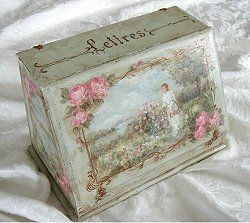 Original French Letter  Box